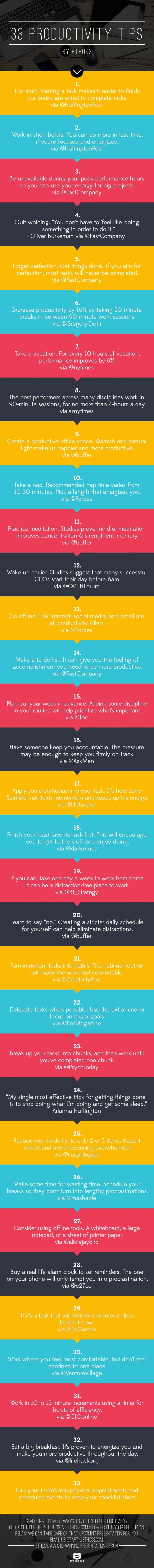 33 Productivity Tips