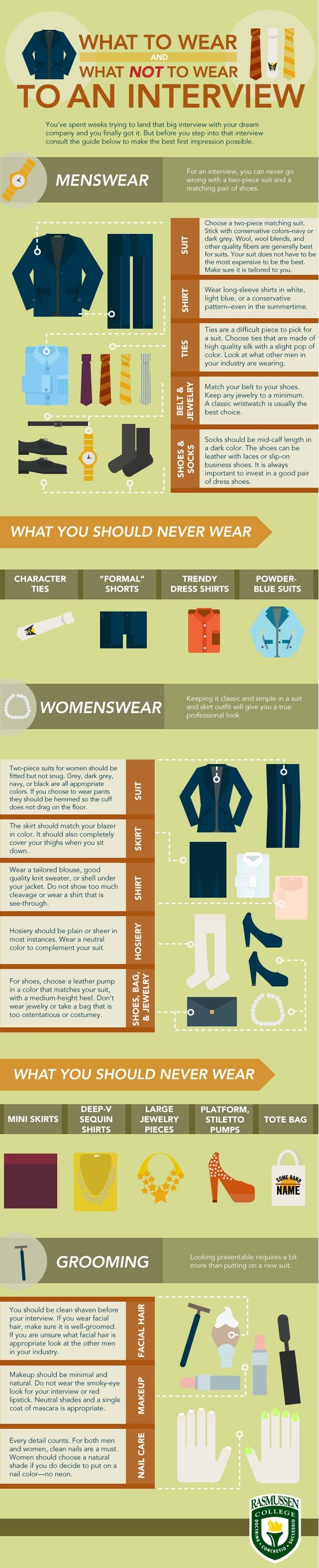 What To Wear And What Not To Wear To An Interview