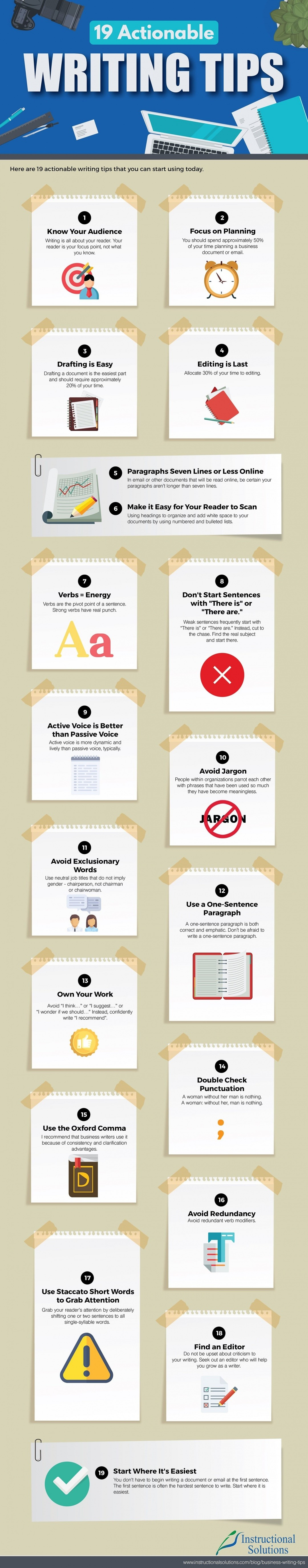 Actionable Writing Tips